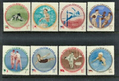 1960 Olympic Winners Mint NH Complete Set Dominican Republic #525-9, C115-117
