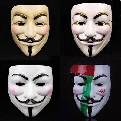 Halloween Costumes Party Fancy Anonymous V for Vendetta Guy Fawkes Horror Mask