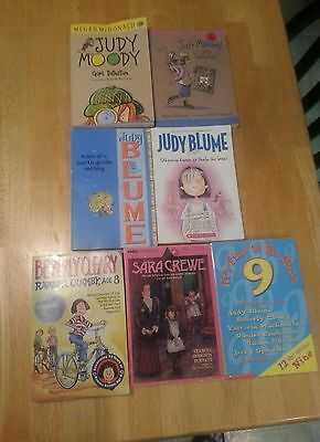 Judy Blume, Judy Moody & more. lot of 7 books for young girls