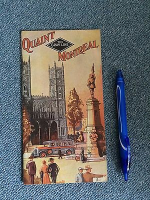Vintage Canada Travel Map Booklet Quant Montreal Quebec Gray Line 1920s