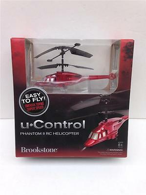 Brookstone U Control Red Phantom II RC Helicopter - New in Box