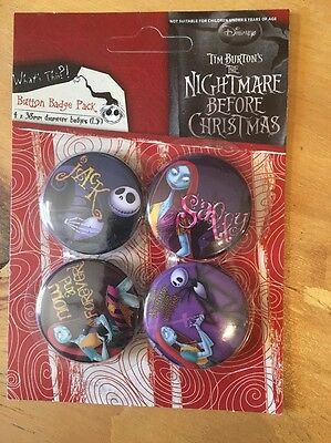 Nightmare Before Christmas Button Badge