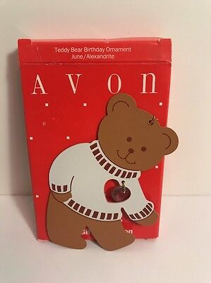 Avon June Teddy Bear Birthday Ornament - NIB
