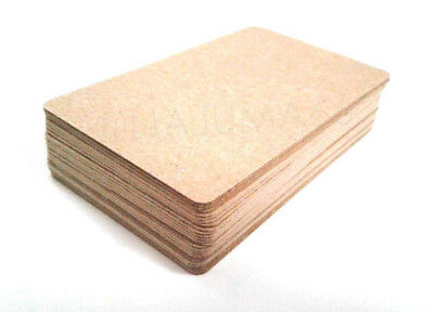 100% Recycled Brown Kraft Cardstock Business Craft Trading Cards Tags - BLANK