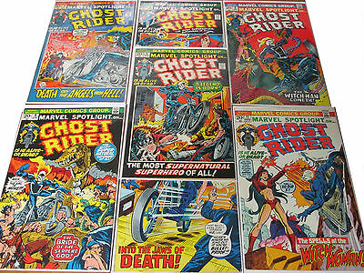 1972 Marvel Spotlight 5-11 Complete Run 1st Ghost Rider