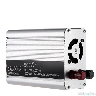 500W 500 WATT 12V DC to 110V AC Car Truck Boat Power Inverter Converter Adapter