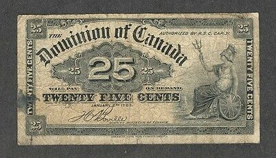 1900 Twenty-Five Cents DC-15b VG * Scarce OLD Dominion of Canada 25¢ Shinplaster
