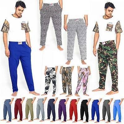 Mens Camouflage Baggy Bodybuilders Yoga Elasticated Gym Pants Cotton Trousers