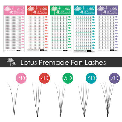 Lotus Premade 3D 4D 5D 6D 7D Volume Fan Lash Semi Permanent Eyelash Extensions