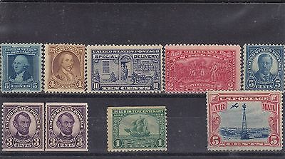 USA - selection of old mint stamps