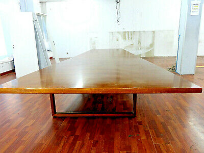 Art Deco Art Nouveau Conference Table Walnut 4,80m, from US Allies in Berlin