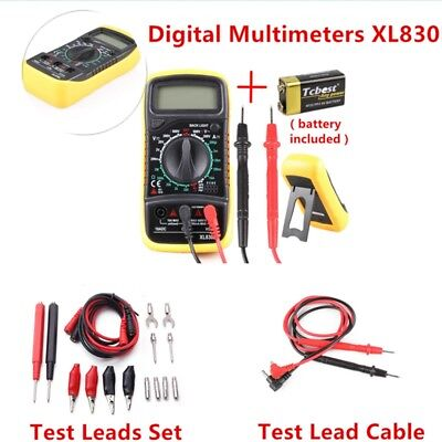 UK XL830L Digital Multimeter AC DC OHM Voltage meter Current Tester Circuit NEW