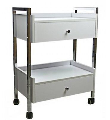 2 Draw Shelves Trolley Lashes Beauty Clinic Spa Waxing Facial Injectables