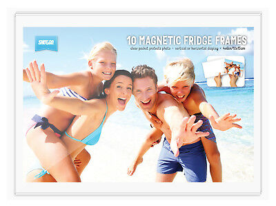 10 Pack Shot2Go Magnetic Picture Photo Fridge Frames (Holds a 6x4 inch photo)