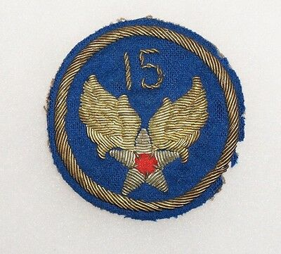 15th Air Force bullion Italian Made AAF Patch US Army Air Forces WWII P4765