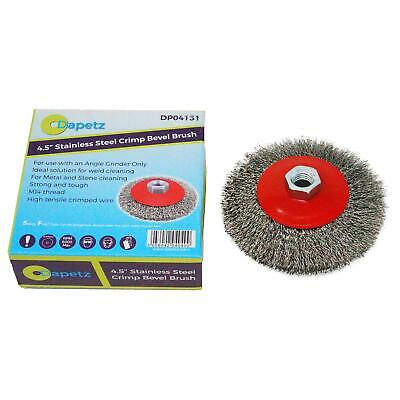 100mm Rotary Stainless Steel Wire Brush Crimp Bevel Wheel Angle Grinder
