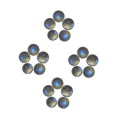 6x6mm 20pc AAA Quality Rose Cut FacetedCabochon Labradorite Loose Gems