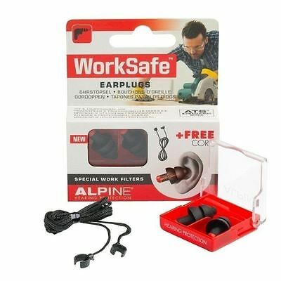 Alpine Worksafe Ear Plugs 1 2 3 6 12 Packs