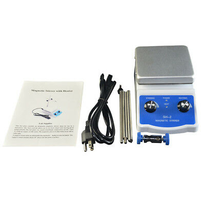 SH-2 Dual Control Top HotPlate Magnetic Stirrer with Heating Bar Lab Equipment