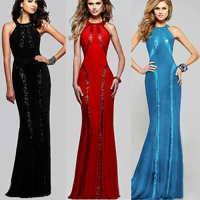 UK Women Wedding Bridesmaid Long Evening Party Ball Prom Gown Cocktail Dress Hot