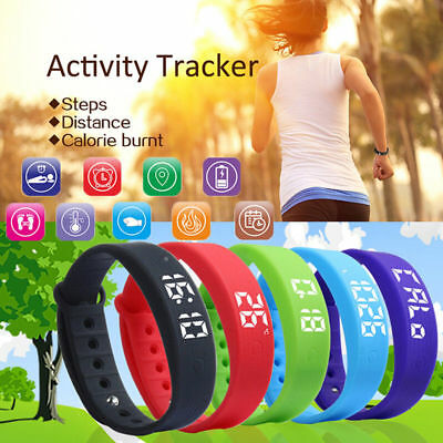 Fitness Band Pedometer Watch Bracelet Kid Activity Tracker Fitbit Style Children