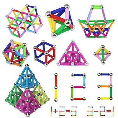 DIY Educational Magnetic 3D Building Toys Sticks Construction Game Kids Gift