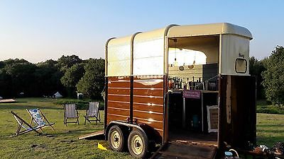 Converted horsebox mobile bar for hire
