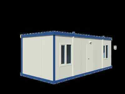 Bürocontainer, Baucontainer, Wohncontainer, Flüchtlingscontainer 6,00m x 2,30m