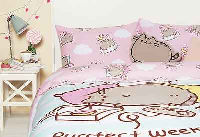 Disney Pusheen The Cat Single Double Duvet Cover Bed Set Throw Cushion Primark