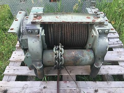 Garwood 20,000 lbs PTO 5 Ton Hydraulic Electric Winch Military Heavy Duty Used
