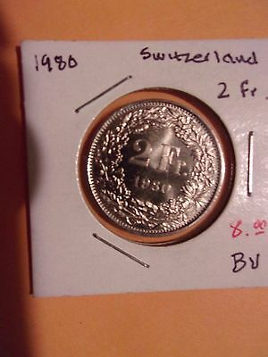 1 Swiss Franc Swiss National Bank Money Currency Switzerland Franc Coin 1