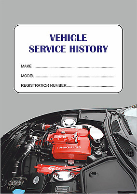 Replacement Vehicle Service History Book - Blank Maintenance Record