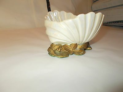 Trina Ceramic Shell With Japanese Japan Koi Water Dragons Fish Soap Dish