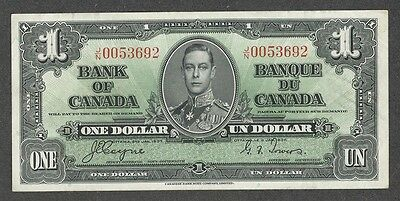 1937 $1.00 BC-21d EF EPQ Beauty HIGH Grade George VI COYNE Paper OLD One Dollar