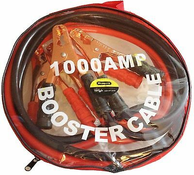New Heavy Duty 1000AMP Car Van Jump Leads 4 Meter Long Booster Cable Start