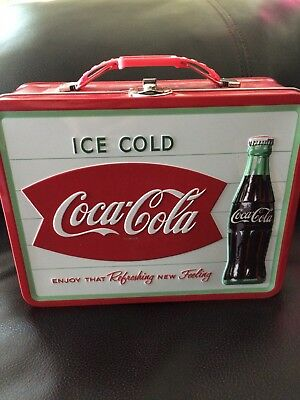 coca cola tin lunch box