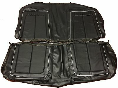 1970 Roadrunner Rear Seat Cover Black Silver Welt Back Covers GTX Satellite PUI
