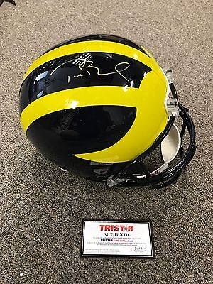 Tom Brady Autographed Signed Michigan Helmet Tristar Coa