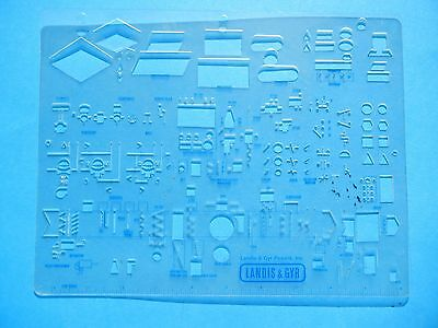 "Temp. Control Template Landis & Gyr Powers Switches,gages,power Tops,1/16"" Scale"