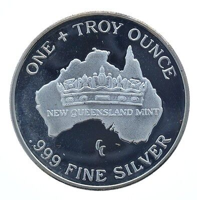 1989 New Queensland Mint One Silver Koala Australia 1 Troy oz .999 Proof round