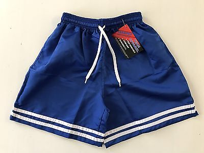 CHAMPRO Youth (Size: Medium) Royal Blue Polyester Soccer Shorts New NWT Boy Girl
