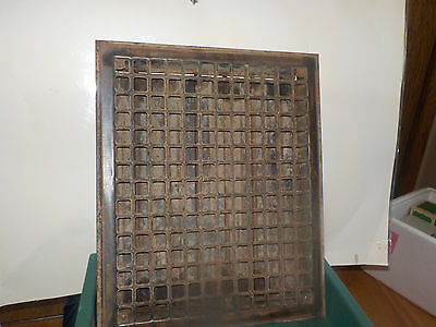 """Metal Heat Register Old Hardware 14 By 17"""" Holes .75"""" Black Opens And Closes Vin"""