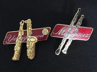 Pin's Pin Pins Superbe Musique Instrument Clarinette Marigaux Et Saxo