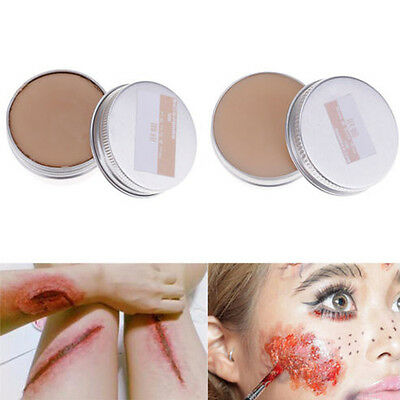 New Halloween Fancy Dress Fake Scar Wound Skin Wax Body Face Painting Make Up sk