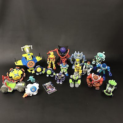 Large Lot Planet Heroes Fisher Price Action Figures Accessories & Vehicles C1