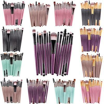 Professional 1/15/20 PCS Brushes Make Up Cosmetic Brush Set Foundation Brush