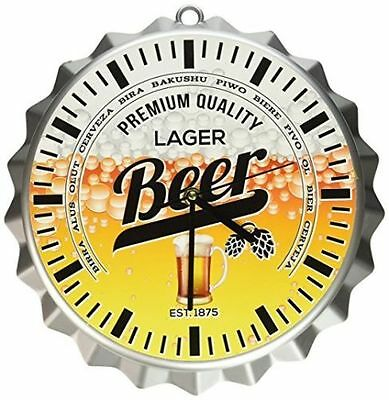 Collectible Beer Bottle Cap Wall Clock Man Cave Tap Pack