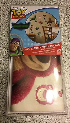 TOY STORY DISNEY Glow In The Dark Peel & Stick Wall Decals 34 Pieces