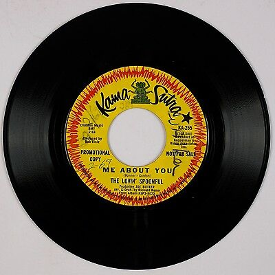 THE LOVIN' SPOONFUL: Me About You USA DJ Promo Kama Sutra Rock 45