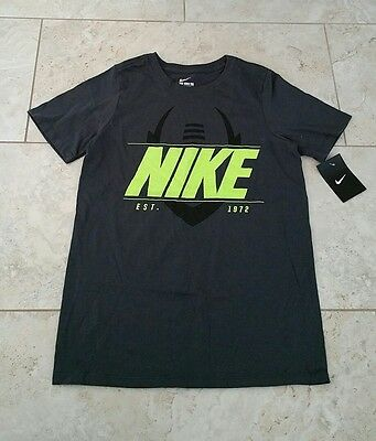 New Nike Youth Boys Gray Graphic Athletic Cut Short Sleeve T-Shirt Large